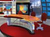 WOIO TV studio set