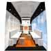 orange bus and trailer interiors