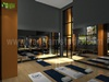 Group Fitness Gym Wood Floor Rendering Design Idea