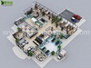 3D Hospital Floor Plan Concept Design in Moscow