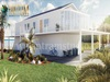 White Vacation Home 3d exterior house designs