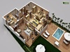 Traditional Residential House 3D Floor Plan Design