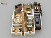 Residential Apartment of 3D Floor Plan, Italy